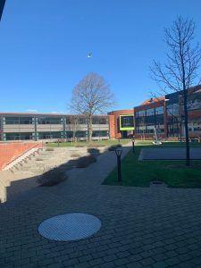 Statsskolens skolegård corona klar